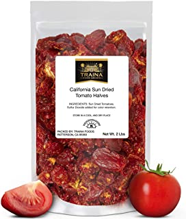 Traina Home Grown California Sun Dried Tomato Halves - Non GMO, Gluten Free, Kosher Certified, Packed in Re...