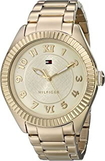 Tommy Hilfiger Women's 1781345 Casual Sport Gold-Plated Coin Edge Bezel Watch