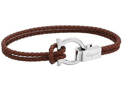 Salvatore Ferragamo Double Wrap Bracelet (Bark Brown) Bracelet