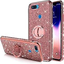 Case for Xiaomi Mi 8 Lite Glitter Case,Sparkly Glitter Bling Diamond Rhinestone Bumper with Ring Kickstand Flexible Soft R...