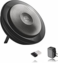 Jabra Bluetooth Speakerphone Speak 710 with USB Dongle and AC Charger - PC/MAC/Tablet and Smartphone Compatible (MS Bundle w/AC Charger)