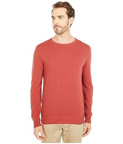 J.Crew Cotton-Cashmere Pique Crewneck Sweater (Canyon Red) Men