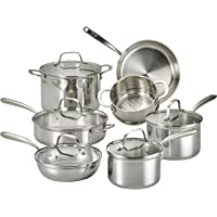 Lagostina Q939SC64 Tri-Ply Stainless Steel 12 PieceCookware Set