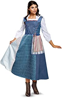 Disney Women's Belle Village Dress Deluxe Adult Costume
