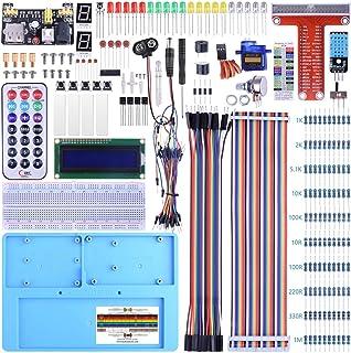 BONROB Raspberry Pi初心者スターターキット 初心者向け電子工作入門キット ラズパイ電子工作キット ラズベリーパイ Raspberry Piプログラミング学習キット ブレッドボード 抵抗器 センサー SPI LCD 1602 ジ...