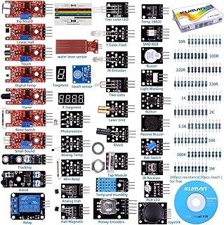 kuman 37-in-1 Kit Sensore di per ArduinoIDE, Raspberry Pi, STM32, Mega2560 Nano K5