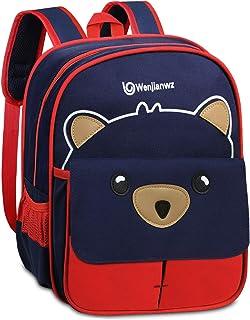 Cute Bear Mochilas para niños Mochila Infantil para niños de 2 a 5 años Infantil para niños, niñas,Rojo
