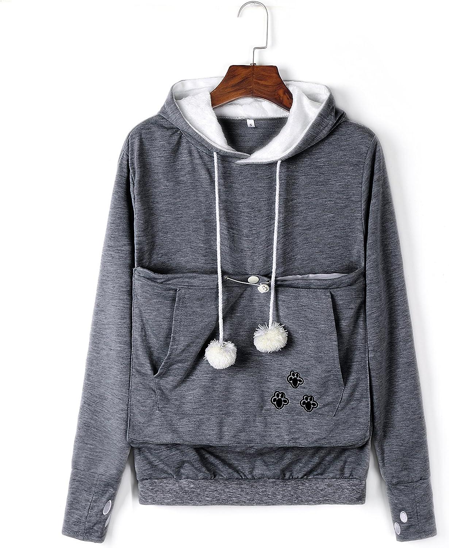 Kei Tomlison Unisex Big Pouch Hoodie Long Sleeve Pet Dog Holder Carrier Sweatshirt