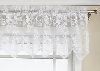 LORRAINE HOME FASHIONS Floral Vine 60-inch x 18-inch Valance, White
