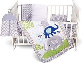 Humble Home Products Nursery Bedding: 6 Piece Baby Boy/Girl Elephant Crib Set (Greyblue)