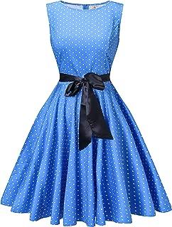 V fashion Women's 1950s Vintage Rockabilly Dresses Audrey Hepburn Style Swing Dress