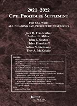 Civil Procedure Supplement, for Use with All Pleading and Procedure Casebooks, 2021-2022 (American Casebook Series)