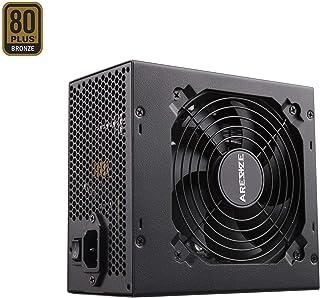 GOLDEN FIELD ARESZE Fuente de Alimentación para PC Semi Modular 80 Plus Bronce 650W ATX con Ventilador de Bajo Ruido para PC de Computadora de Escritorio