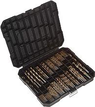 MASTERCRAFT Titanium-Coated Drill Bit Set, 230-Pc Kit - 3/64 up to 1/2 Inch