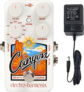 Electro Harmonix CANYON Delay and Looper Guitar Pedal with Power Supply