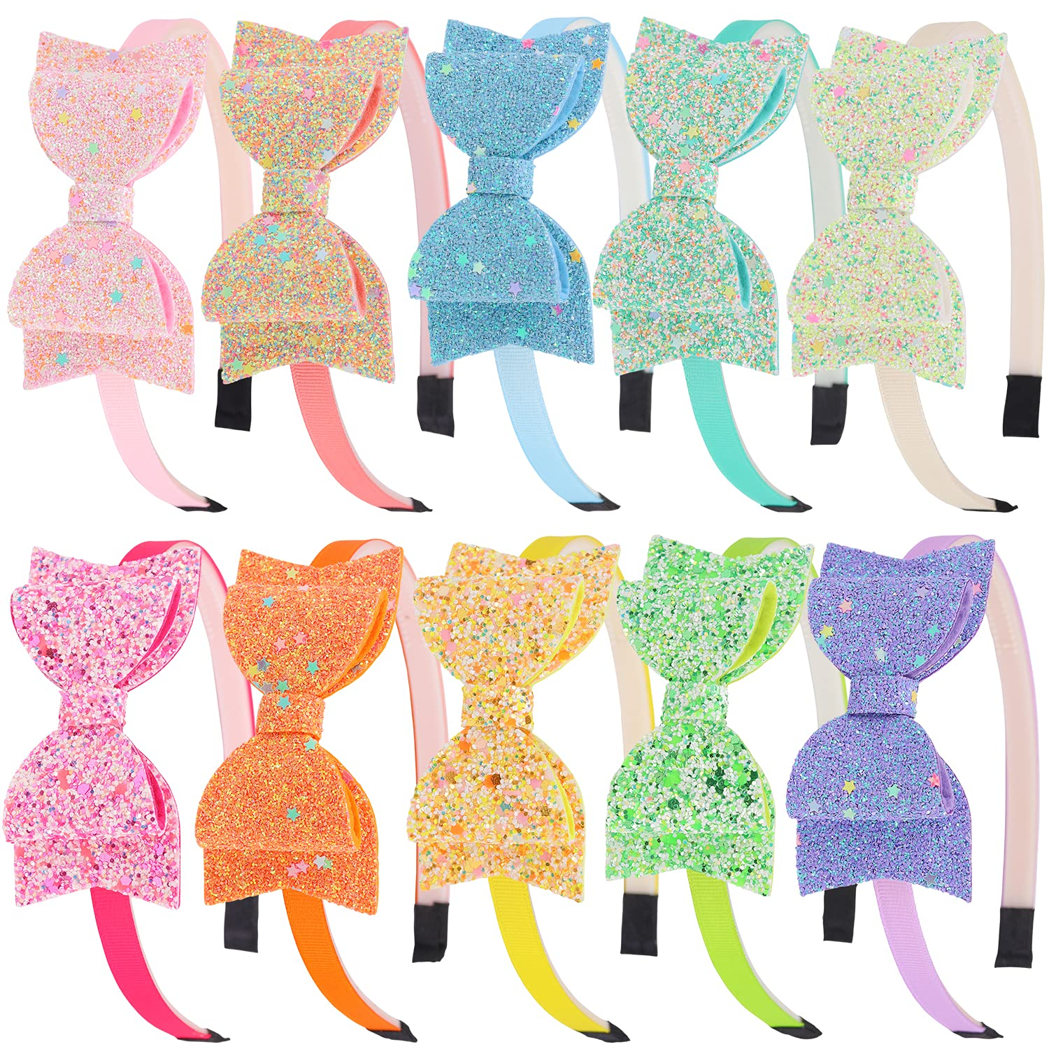 XIMA Bows Headbands For 2021new shipping Recommendation free Girls Sequin Gli inch Kids 3.5