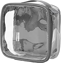 Clear TSA Approved 3-1-1 Travel Toiletry Bag/Transparent See Through Organizer (Gray)