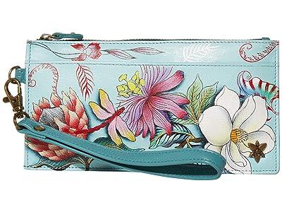 Anuschka Handbags Organizer Credit Card Wristlet Wallet 1151 (Jardin Bleu) Bags