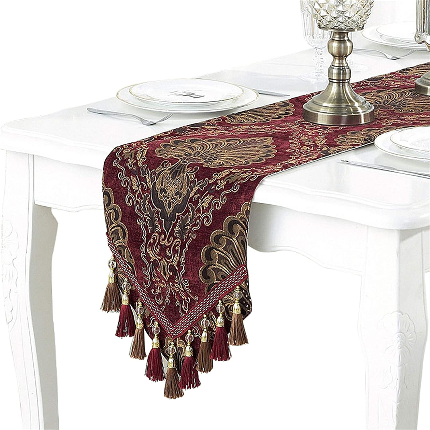 Bettery Home Embroidery Luxury Table Limited price sale Tabl sale Jacquard Fabric Runner