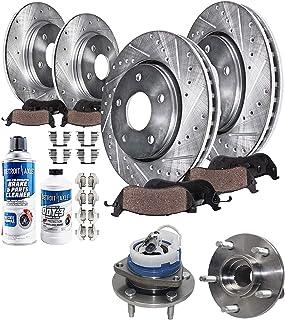 Note: GXP, 5.3 Liter Stirling 2008 For Pontiac Grand Prix Front Disc Brake Rotors and Ceramic Brake Pads