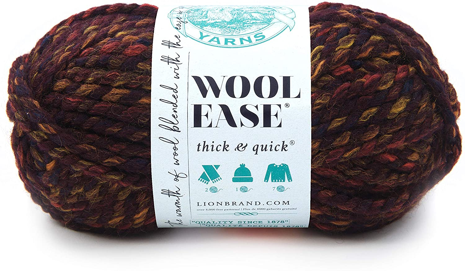 Lion Brand Wool-Ease Thick Quick Harvest half Yarn Mesa Mall