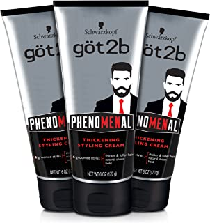 Got2b Phenomenal Thickening Hair Styling Cream, 6 Ounce, 3 Count