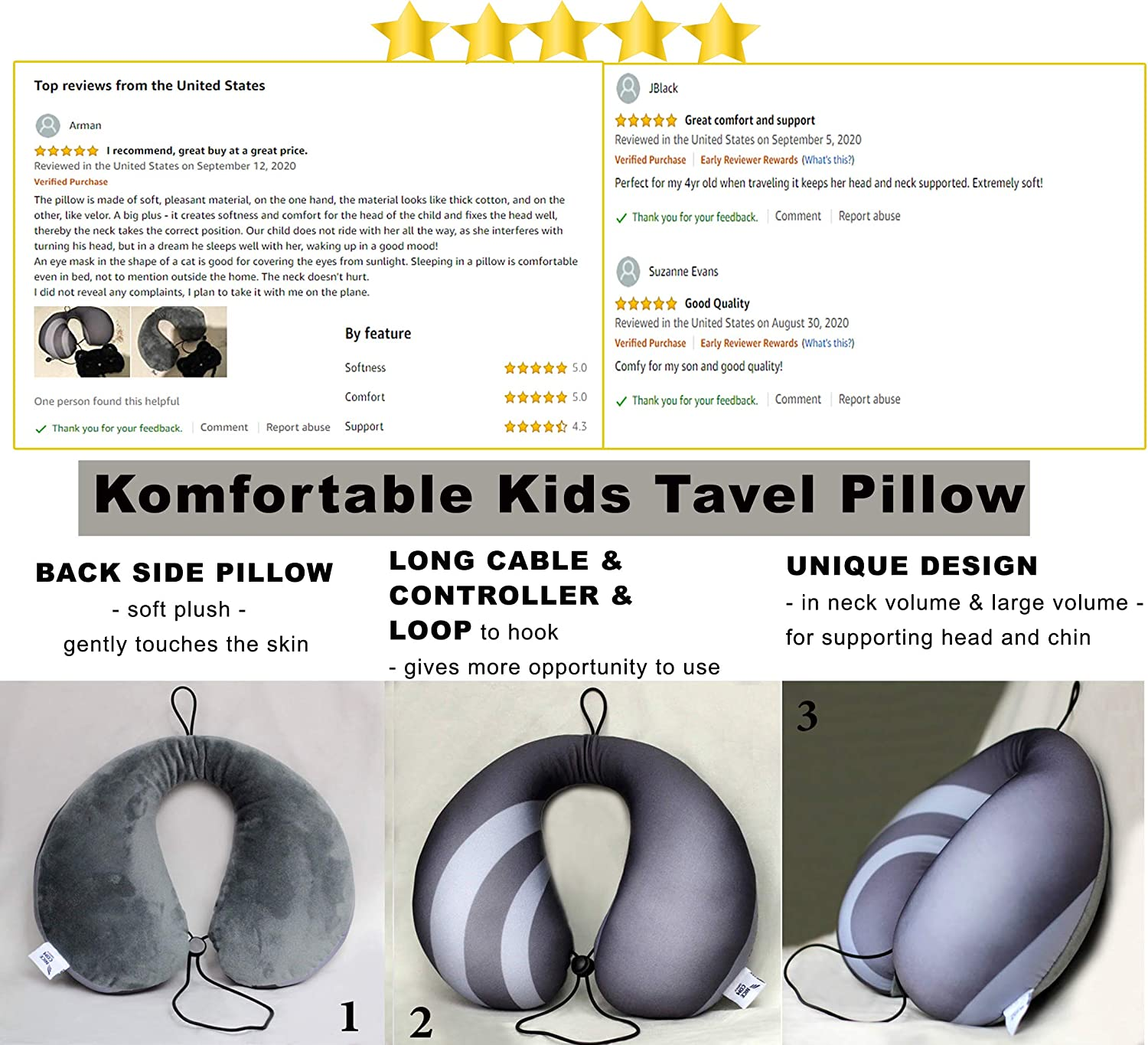 Supporting Head and Chin 4 PIECE Set Soft Eye Mask Girl and Boy Children Ages 3-8 Childs pillow and blanket Travel Pillow Set For kids Travel Blanket /& Backpack Travel Blanket Set