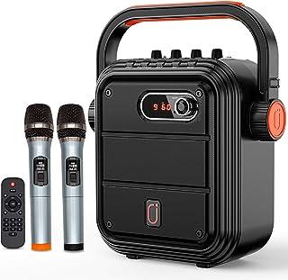JYX Karaoke Speaker with Microphone Portable Bluetooth Speaker Karaoke Set Rechargeable PA System with FM Radio, Audio Rec...