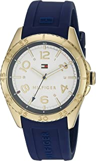 Tommy Hilfiger Women's White Dial Silicone Band Watch - 1781637