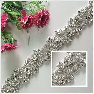 TRLYC Silver Crystal Belt Rhinestones and Pearls Sash Bridal Sash Wedding Sash Dress Sash