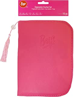 Boye 3396260001W Pink Ergo Set and Case Crochet Hooks