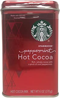 Starbucks Classic Peppermint Hot Cocoa Mix Red Tin 6 Oz
