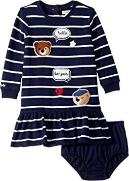 Striped Patch Dress (Infant)