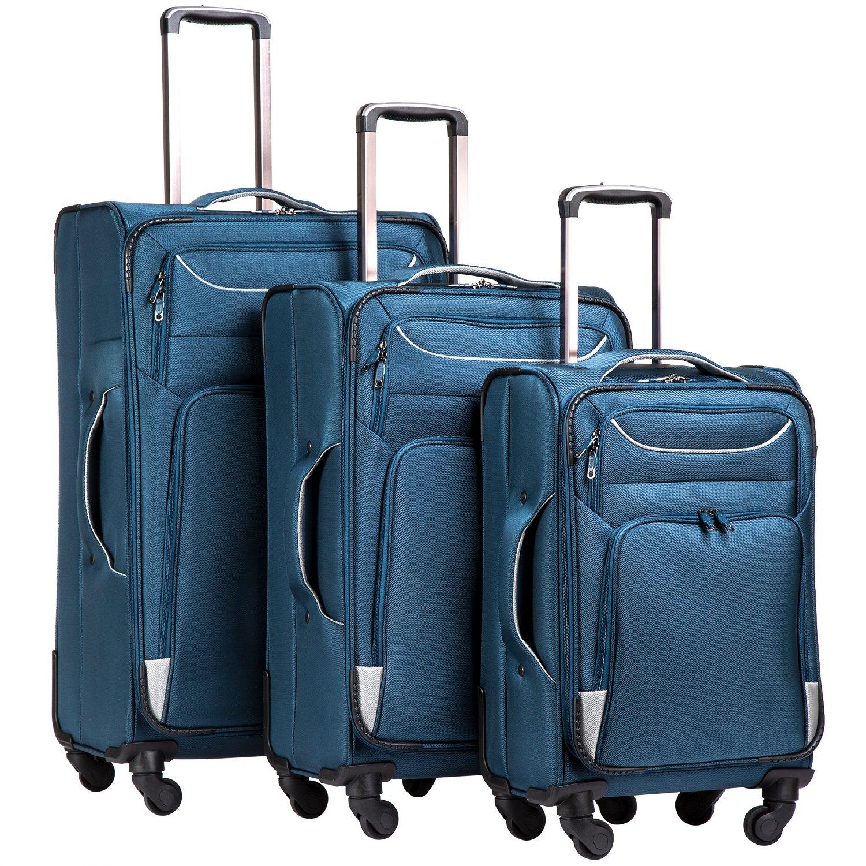 Coolife Luggage Suitcase Softshell lightweight