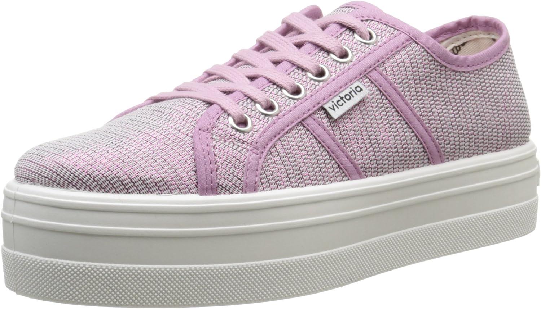 Victoria Basket Tejido Lurex, Unisex Adults' Low-Top Sneakers Pink
