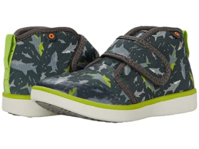 Bogs Kids Kicker Mid Sharks (Toddler/Little Kid) (Dark Gray Multi) Boy