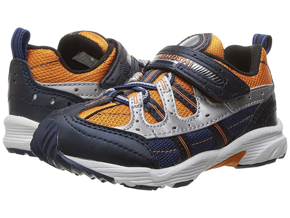 Tsukihoshi Kids Speed (Toddler/Little Kid) (Navy/Orange) Boys Shoes