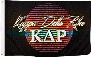 Kappa Delta Rho 80's Letter Fraternity Flag Banner 3 feet x 5 feet Sign Decor KDR (Flag - 80's)