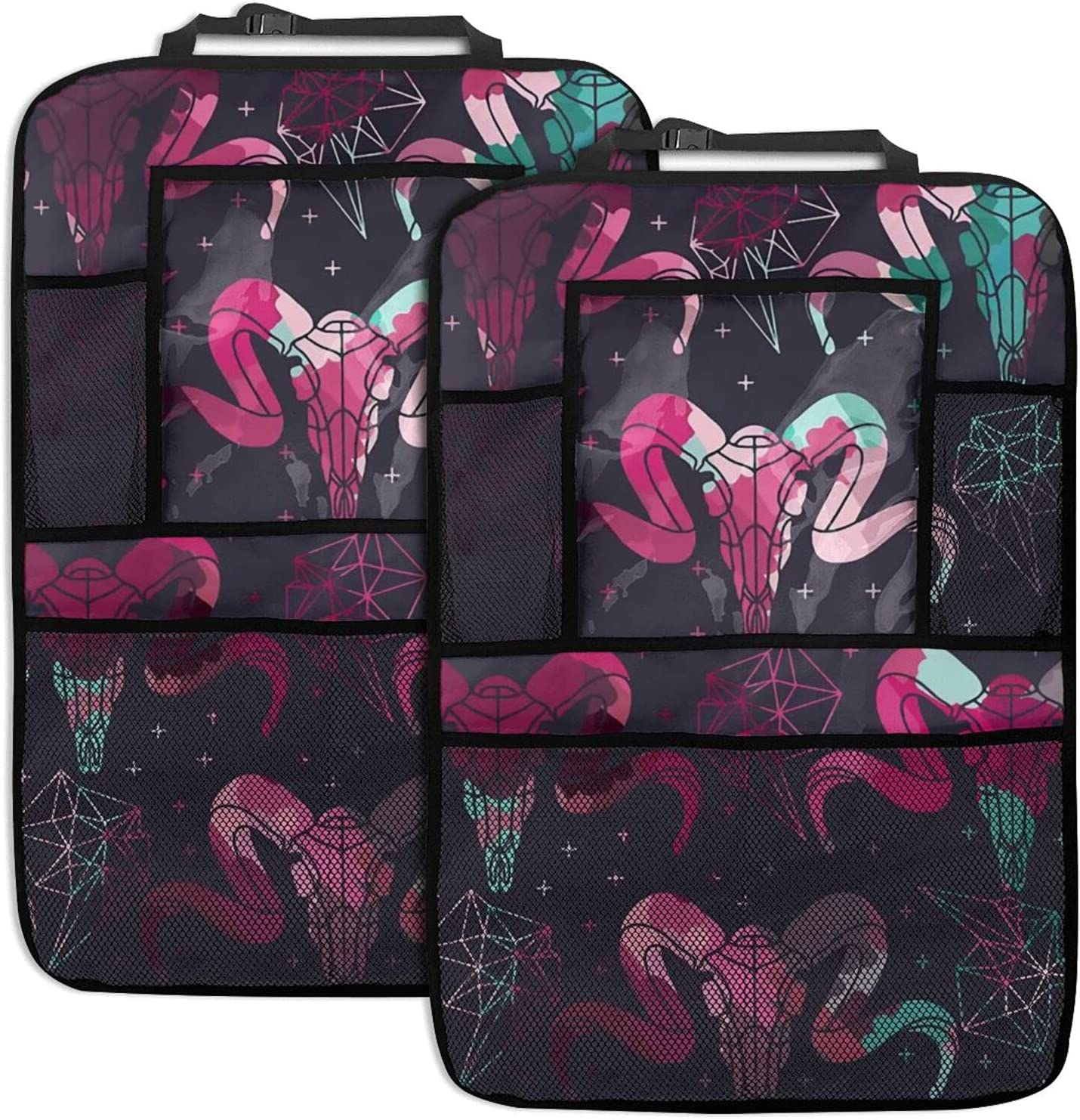 Car Backseat Organizer 2 Super beauty product 5% OFF restock quality top Pack Cow Seat Skull Stora Pink Back