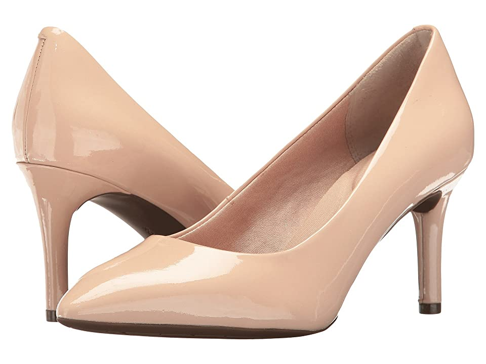 Rockport Total Motion 75mm Pointy Toe Pump (Rose Cloud Patent) High Heels