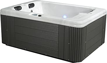 Essential Hot Tubs 24 Jets Devotion Hot Tub, Grey