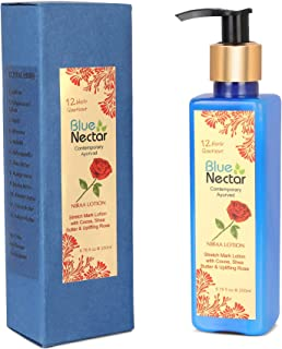 Blue Nectar Stretch Mark and Scar Body Lotion Cream with Cocoa Butter, Shea Butter and Uplifting Rose for Skin Combination...