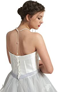 Skyvan Imitation Pearls Tassel Backdrop Necklace Body Chain Wedding Jewelry Backless Dress Accessories