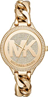 Women's Slim Runway Gold Tone Stainless Steel Watch MK3474