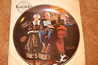 Norman Rockwell Evening's Ease Plate