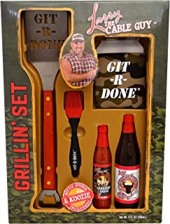 Larry The Cable Guy Holiday Grillin Set, Bring The Red Neck Out Git R Done