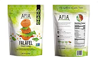 Non-GMO Project Verified Frozen Gluten free/Vegan Falafel - Pack of 10 Bags (150 count Falafel) - Just Heat and Eat!