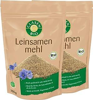 2x CLASEN BIO Leinsamenmehl, low carb, glutenfrei und vegan - 300 g