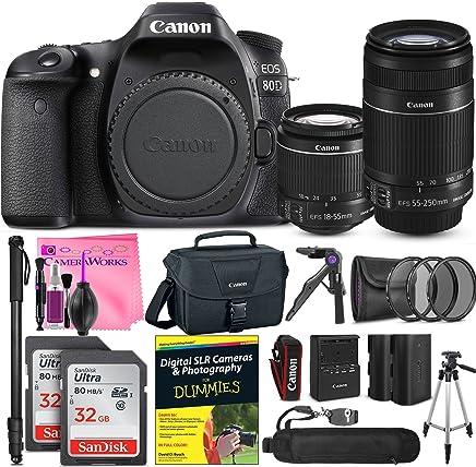 Canon EOS 80d cámara réflex digital avanzada foto y paquete de viaje + cámara funciona Kit de iniciación