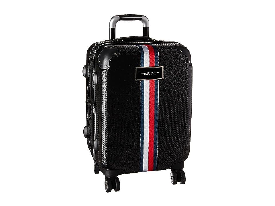 Tommy Hilfiger Basketweave 21 Upright Suitcase (Black) Luggage